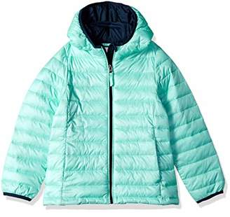 Amazon Essentials Toddler Girls' Lightweight Water-Resistant Packable Hooded Puffer Jacket