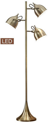 "Artiva USA Caprice 64"" LED Floor Lamp, Antique Satin Brass"