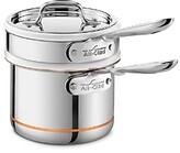 All-Clad Copper Core 2 Quart Saucepan with Double Boiler & Lid