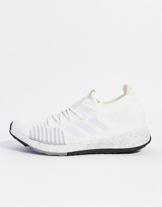 adidas pulseboost trainers in white