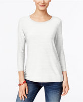 JM Collection Jacquard Top, Created for Macy's