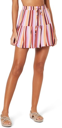 MinkPink Ilios Tiered Cover-Up Miniskirt