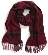 Hickey Freeman Men's Ombre Exploded Plaid Cashmere Scarf