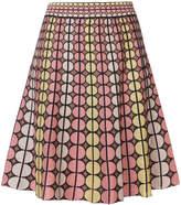 M Missoni geometric pattern stitched skirt