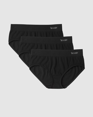 Boody Organic Bamboo Eco Wear - Women's Black Briefs - 3 Pack Midi Briefs - Size One Size, S at The Iconic