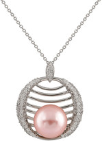 Splendid Pearls Plated 12-12.5Mm Shell Pearl Necklace