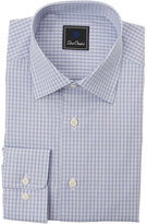 David Donahue Sky & Purple Check Dress Shirt