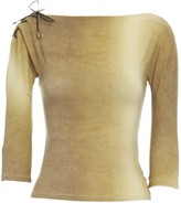Roberto Cavalli Yellow Leather Top for Women