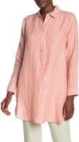 NYDJ Striped Linen Weekend Tunic
