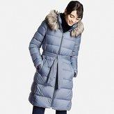 Uniqlo Women Lightweight Down Hooded Coat