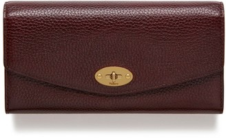 Mulberry Darley Wallet Oxblood Natural Grain Leather