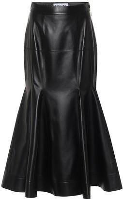 Loewe Leather midi skirt