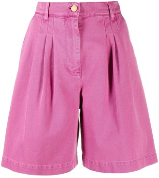 Alberta Ferretti High-Waist Denim Shorts