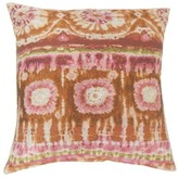 Xantara Ikat Throw Pillow Cover The Pillow Collection Color: Guava