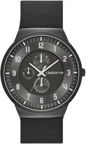 Claiborne Mens Black Strap Watch
