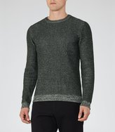 Reiss Reiss Tiger - Flecked Jumper In Green, Mens