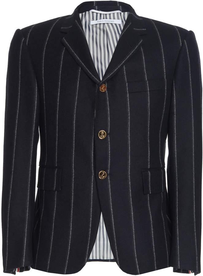 Thom Browne Chalk Stripe Wool Blazer