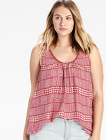 Lucky Brand Red Geo Tank