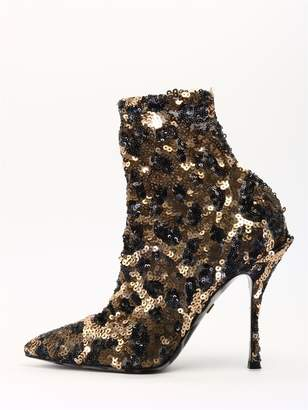 Dolce & Gabbana Ankle Boot Leo Sequins