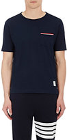 Thom Browne Men's Cotton Pocket T-Shirt-NAVY