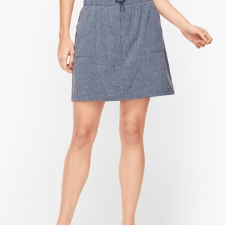 Talbots Lightweight Stretch Drawstring Waist Skort