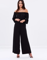 Shona Joy Off-The-Shoulder Jumpsuit