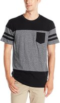 Southpole Men's Short Sleeve Marled Cut and Sewn T-Shirt with Pocket