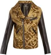 Junya Watanabe Floral-jacquard contrast-sleeve jacket