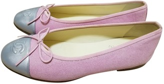 Chanel Pink Cloth Ballet flats