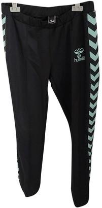 Hummel Black Cotton Trousers for Women