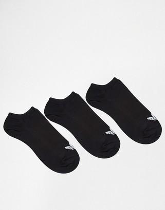 adidas 3 Pack Trefoil Liner Socks