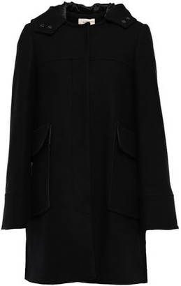 BA&SH Wool-blend Felt Hooded Coat