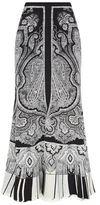 Alexander McQueen Paisley Flared Maxi Skirt