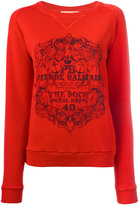 Pierre Balmain logo print sweatshirt - women - Cotton - 34