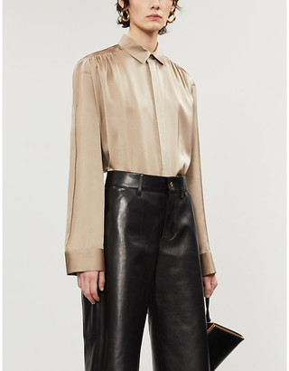 Bottega Veneta Spread collar silk shirt