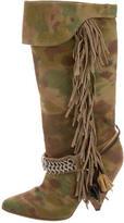 Isabel Marant Canvas Fringe-Embellished Boots