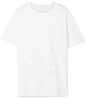 See by Chloe Cutout Cotton-jersey T-shirt