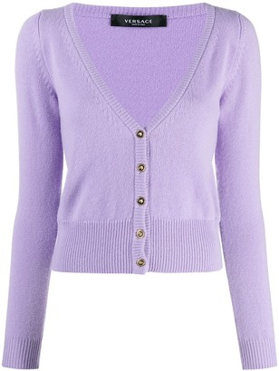 Versace Fine-Knit Buttoned Cardigan