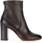 Santoni chunky heel ankle boots - women - Calf Leather/Leather/Foam Rubber - 36
