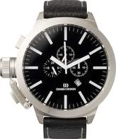 Danish Design Men's Quartz Watch with Dial Chronograph Display and Leather Strap DZ120077