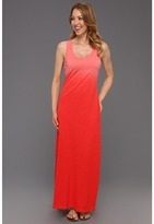 Tommy Bahama Arden Jersey Dip Dye Dress (Red Tulip) - Apparel