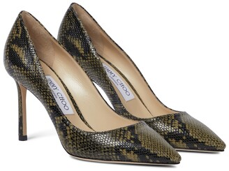 Jimmy Choo Romy 85 snake-effect leather pumps