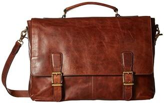 Frye Logan Top Handle (Cognac Antique Pull Up) Handbags