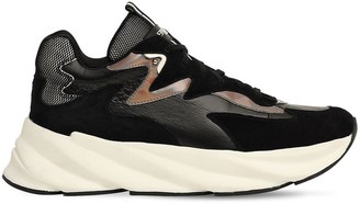 Elena Iachi 50mm Suede & Leather Sneakers