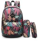 CrossLandy High School Bookbag Backpack Women Girls Boys Fits 15.6 inch Laptop