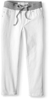 Seven7 Knit Waist Ankle Skinny Jeans (Big Girls)