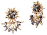 Jenny Packham Two-Tone Front Back Stud Earrings