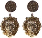 Gucci Lion Motif Drop Earrings