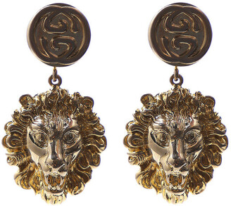Gucci Lion Motif Drop Earrings