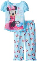 Disney Komar Little Girls' Blue Jet Minnie 2 Pack Pajama Set